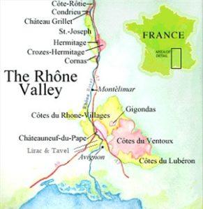 Rhone Valley Map