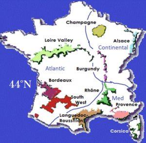 Bordeaux Wine Regions Map